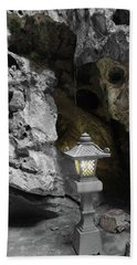 Lamp In Marble Mountain Hand Towel