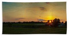 Lancaster Farm Sunset Panorama Hand Towel