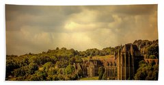 Hand Towel featuring the photograph Lancing College by Chris Lord