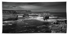 Land And Sea Bath Towel by Mark Lucey