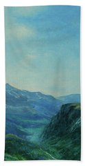 Bath Towel featuring the painting Land Of Dreams by Jane See