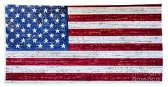 Land Of The Free Hand Towel by David Millenheft