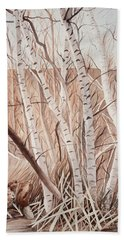 Land Of The Silver Birch Hand Towel