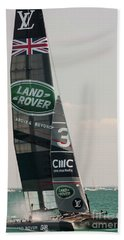 Land Rover Bar Bath Towel by David Bearden