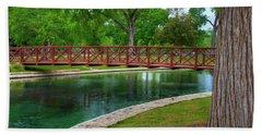 Landa Park Bridge Bath Towel by Kelly Wade