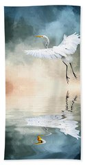 Landing At Dawn Bath Towel by Cyndy Doty