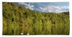 Hand Towel featuring the photograph Landingville Lake Pennsylvania by David Dehner