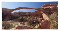 Hand Towel featuring the photograph Landscape Arch by Alan Vance Ley