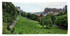 Landscape Edinburgh  Bath Towel by Chuck Kuhn