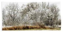 Landscape In Winter Hand Towel