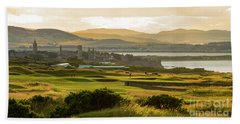 Landscape Of St Andrews Home Of Golf Hand Towel by MaryJane Armstrong