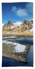 Landscape Sudurland South Iceland Hand Towel by Matthias Hauser