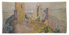 Landscape With A Ruined Castle  Hand Towel