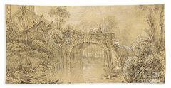 Landscape With A Rustic Bridge Bath Towel