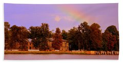 Landscape With Rainbow Hand Towel