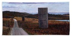 Landscape With Silos Hand Towel