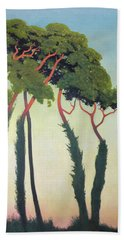 Landscape With Trees Hand Towel