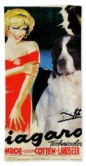 Landseer Art Canvas Print - Niagara Movie Poster Bath Towel