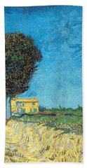 Bath Towel featuring the painting Lane Near Arles by Van Gogh