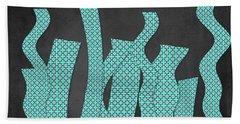 Languettes 02 - Aqua Hand Towel