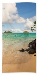 Lanikai Beach 1 - Oahu Hawaii Bath Towel by Brian Harig