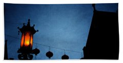 Lanterns- Art By Linda Woods Bath Towel