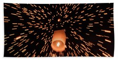 Hand Towel featuring the photograph Lanterns In The Sky by Pradeep Raja Prints