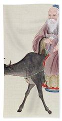 Lao Tzu On His Buffalo Hand Towel