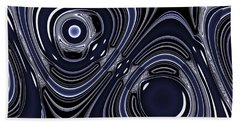 Lapis And Chrome Abstract Hand Towel