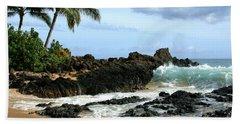 Lapiz Lazuli Stone Aloha Paako Aviaka Bath Towel by Sharon Mau
