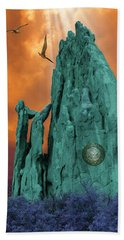 Lares Compitales - Guardian Spirits Of The Crossroads Bath Towel