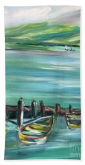 Large Acrylic Painting Hand Towel