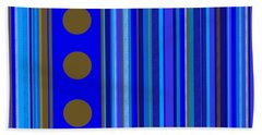 Large Blue Abstract - Panel Three Hand Towel