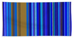 Large Blue Abstract - Panel Two Bath Towel