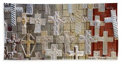 Large Group Of Crucifixes, San Miguel Bath Towel