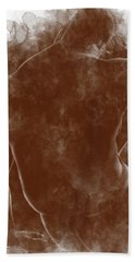Large Man Backside Hand Towel by Peter J Sucy