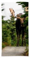 Large Moose Hand Towel