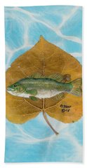Large Mouth Bass #2 Hand Towel by Ralph Root