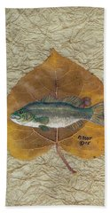 Large Mouth Bass #3 Hand Towel by Ralph Root