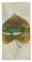 Large Mouth Bass Bath Towel by Ralph Root