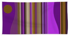 Large Purple Abstract Hand Towel
