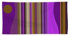 Large Purple Abstract Bath Towel