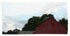 Large Red Barn Hand Towel