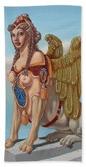 Large Sphinx Of The Vienna Belvedere Hand Towel