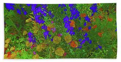 Larkspur And Primrose Garden 12018-3 Hand Towel