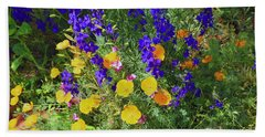 Larkspur And Primrose Garden Hand Towel