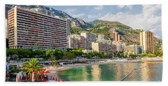 Larvotto Beach In Monaco Bath Towel