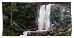 Las Marias Puerto Rico Waterfall Hand Towel by Luis F Rodriguez