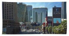 Bath Towel featuring the photograph Las Vegas Skyline by John Kolenberg