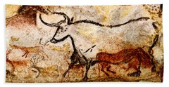 Lascaux Hall Of The Bulls - Aurochs Hand Towel